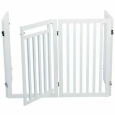 TRIXIE Dog Gate 60-160cm White Pet Safety Fence Barrier Gate Side Panel 39363