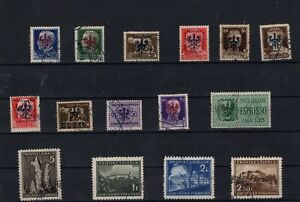 Slovenia Laibach ww2 - German occupation - used stamps RR !