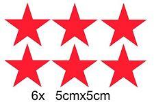 6x RUSSLAND Luftwaffe RUSSISCHE Roter Stern Auto Aufkleber Sticker UDSSR Schrift
