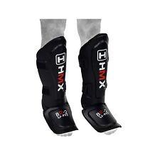 HMX SHIN INSTEP PADS LEG FOOT GUARDS PROTECTOR MUAY THAI KICK BOXING KARATE S/M