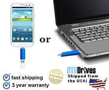 16GB OTG Dual USB Micro USB Flash Pen Stick Drive for PC/Android - BLUE