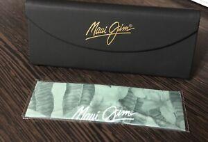 Maui Jim Black Eyeglass & Sunglass case & Cleaning Cloth