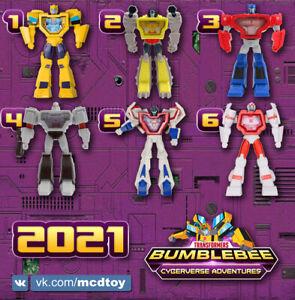 McDonald's Happy Meal Toys 2021 Transformers: Bumblebee Cyberverse Adventures