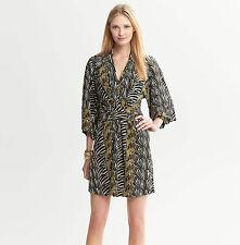 NEW Banana Republic ISSA London Zebra Dress S 4 Career Cocktail Kimono $140 *
