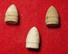 3 Different Excavated Civil War .44 Cal. Pistol Bullets - Manassas