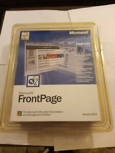 Microsoft Office FrontPage For Windows Full Version Open Box Version 2002