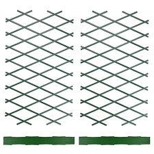 Expanding Green Plastic Foldable Wall Trellis Climbing Plants Garden Fence Panel