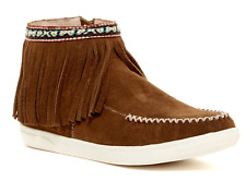 NEW MINNETONKA VIENNA ANKLE BOOTIES SUEDE BOOTS WOMENS 9 W/ FRINGE FREE SHIP