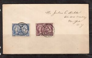 Canada #57 #60 Used Ideal CDS Duo On Cover To NY USA - Sept 10 1897 Cancels