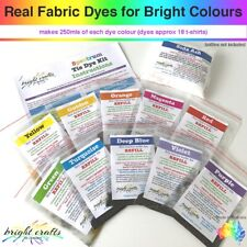 Tie Dye Kit REFILL 10 colours real fabric dyes for bright kid safe colours
