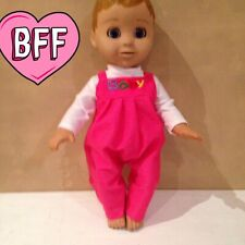 "17"" Dolls Clothes fits Luvabella fits Baby Born Dolls. Dungarees outfit."