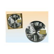 Orologio da parete cromato tondo con portafoto - Diametro cm. 38
