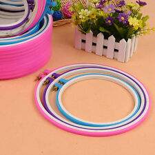 1X Colorful Embroidery Card Slot Ring Adjustable Cross Stitch Craft Tool Sewing