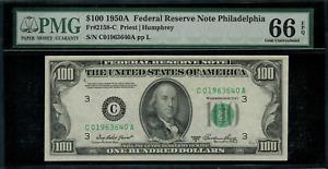 1950A $100 Federal Reserve Note - Philadelphia - FR. 2158-C - Graded PMG 66 EPQ