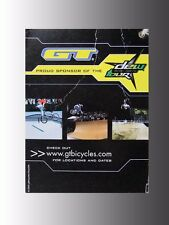 Collectable 2005 original large GT BMX Bicycle in-store bike tag, ABA Race