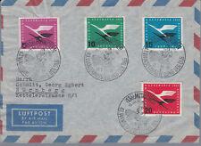 BRD Sammlung von 5 verschiedenen Erstflugbelegen zumeist aus 205-08 (SR-268)