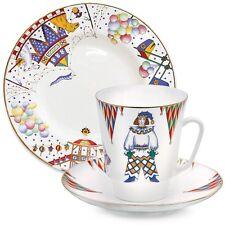 Imperial Lomonosov Porcelain Tea Cup Saucer Plate Petrushka Ballet 3-pc. SALE
