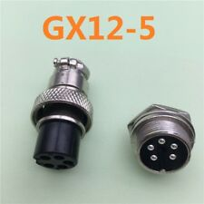 GX12-5 5 Pin Male 12mm Screw Type Panel Connector Adapter Aviation Plug
