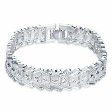 Mens Womens 925 Sterling Silver Diamond Cut 13mm Link Chain Bracelet #B230