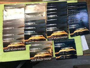 "Vintage Rolex ""Your Rolex Oyster ""  Booklet 1984;1986"