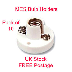 10 x MES Bulb Holders Miniature Screw lamp E10 low voltage