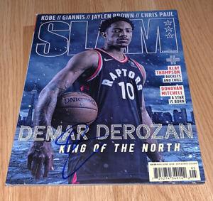 Demar Derozan Signed Toronto Raptors SLAM Magazine Coa - Exact Proof