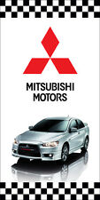 MITSUBISHI AUTO DEALER VERTICAL AVENUE POLE BANNER SIGNS