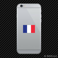 French Flag Cell Phone Sticker Mobile Die Cut France