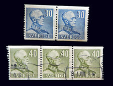 Swedish Stamps / 1939-42 / King Gustaf V / 2 Blocks / Used