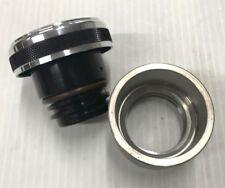 Billet Aluminum Vented Gas / Oil Cap W/ Weld In Steel Bung For Chopper Bobber