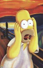 THE SIMPSONS ~ HOMER SCREAM 24x36 Edvard Munch Art Parody POSTER Matt Groenig
