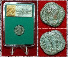 Roman Empire Coin ALEXANDER SEVERUS Three Standards On Reverse Nicaea Bithynia