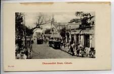 (Gg391-100) Trams, Dharumtollah Street, Kolkata, CALCUTTA, India c1910 Unused VG