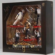 "KING OF POP MICHAEL JACKSON 4"" FIGURES 5 POSE FIGURINES SET DOLL STATUE"