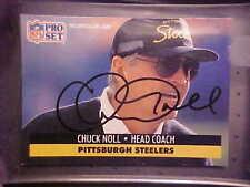 CHUCK NOLL ORIG SIGNED AUTO 1991 PRO SET 1991 # 279 - W/COA!