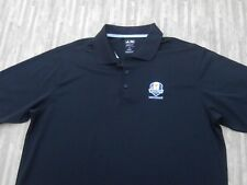 Ryder Cup 2012 Medinah Adidas Golf Black Polo Shirt ~ Men's XL ~ SS Golf
