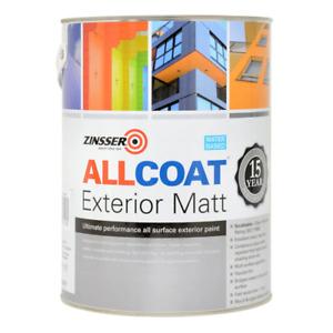 Zinsser Allcoat Exterior Matt Black