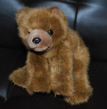"Ty Classic Brown Bear Bean Bag Plush Stuffed Animal Toy Htf 10"" Retired No Tags"