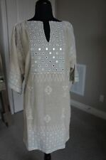 NEW ANTHROPOLOGIE Day Birger Mikkelsen Embroidered Silk Cotton Couture Dress S