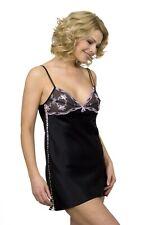 Sulis Silk Susanna pure silk lace black chemise slip lingerie made in Britain