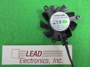 COOLCOX 12 volt Frameless VGA Card Fan 50MM X 10MM 3-WIRE