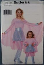 NOS Butterick Costume Pattern P419 Girls Caped Hero New Old Stock