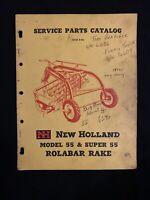 New Holland Service Parts Catalog 55 Rolabar Rake 1958 *1368