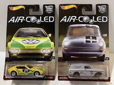 Hot Wheels Air-Cooled VW Volkswagen Squareback & SP2 Lot of 2 Die-Cast Cars NOS