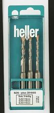Heller SDS+ Plus Bionic 3 piece Hammer Drill Bit Set 5mm 6mm 8mm Masonry German