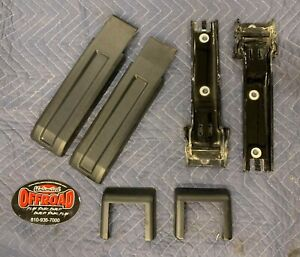 Jeep Wrangler JK Black Tailgate Hinge with Covers Complete Set