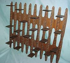 Vintage Wood Wall Display Shelf Brutalist MCM Arts Craft Trinket Knick Knack