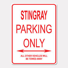 """STINGRAY Parking Only Street Sign Heavy Duty Aluminum Sign 9"""" x 12"""""""