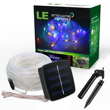 LED Solar Power 16.4FT 50 LED Rope Tube Lights String Strip Outdoor Path Garden