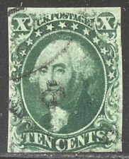 U.S. #15 Used - 10c Green, Type III ($140)